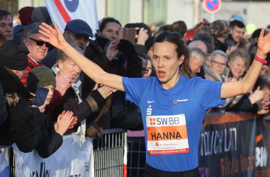 Hanna Klein gewann beim Bietigheimer Silvesterlauf. Foto: Pressefoto Baumann/Hansjürgen Britsch