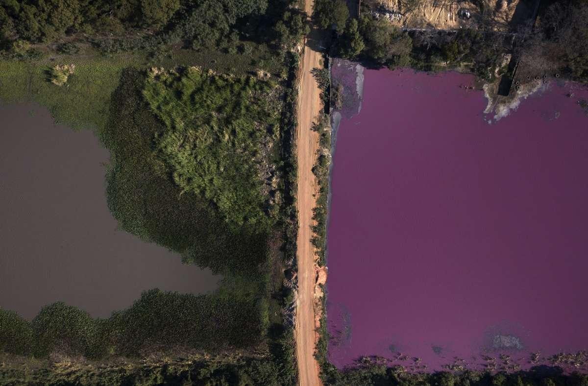 Blick auf die zweigeteilte Lagune Cerro in  Limpio Foto: AP/Jorge Saenz