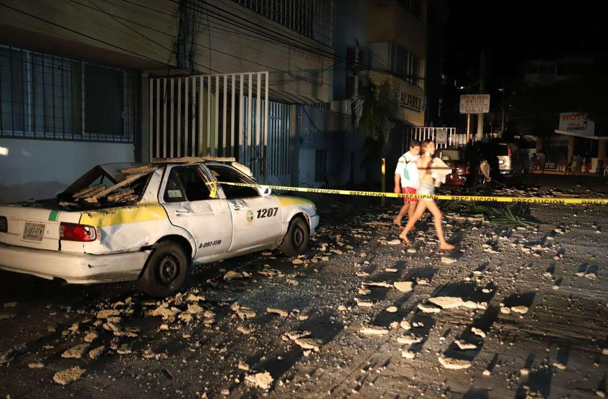 Erdbeben in Mexiko Foto: dpa/Bernardino Hernandez