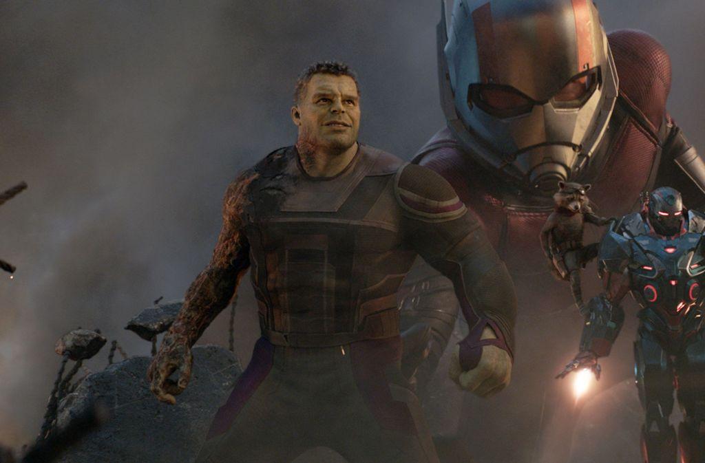 Giant Man, Rocket und War Machine. Foto: Film Frame/Marvel Studios/Disney