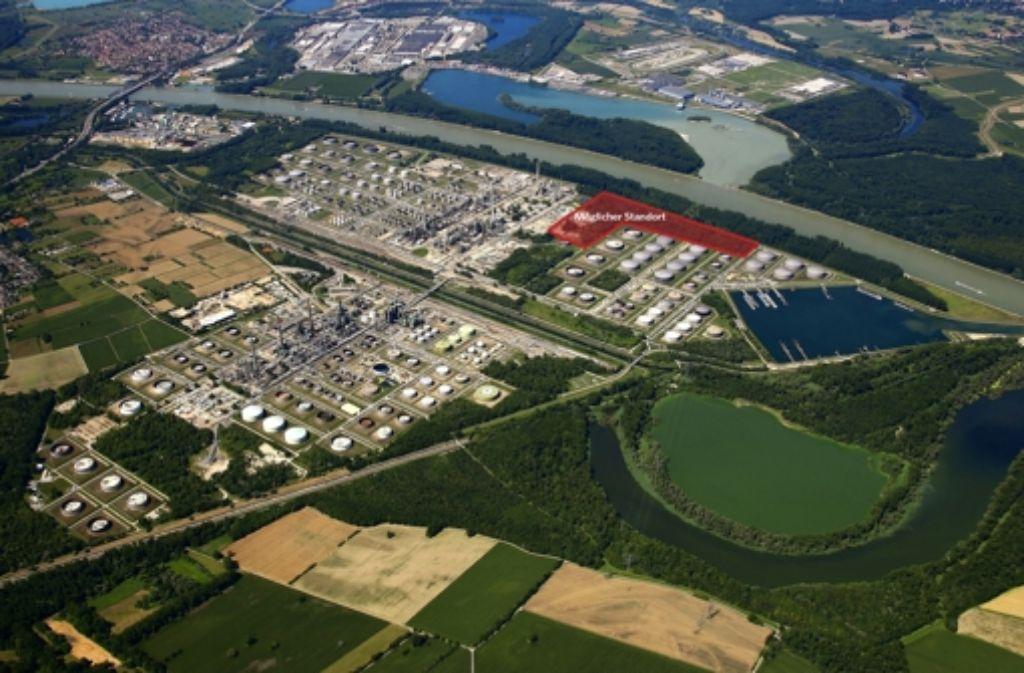 Das neue Kraftwerk soll auf dem Raffineriegelände der Miro gebaut werden. Foto: Miro