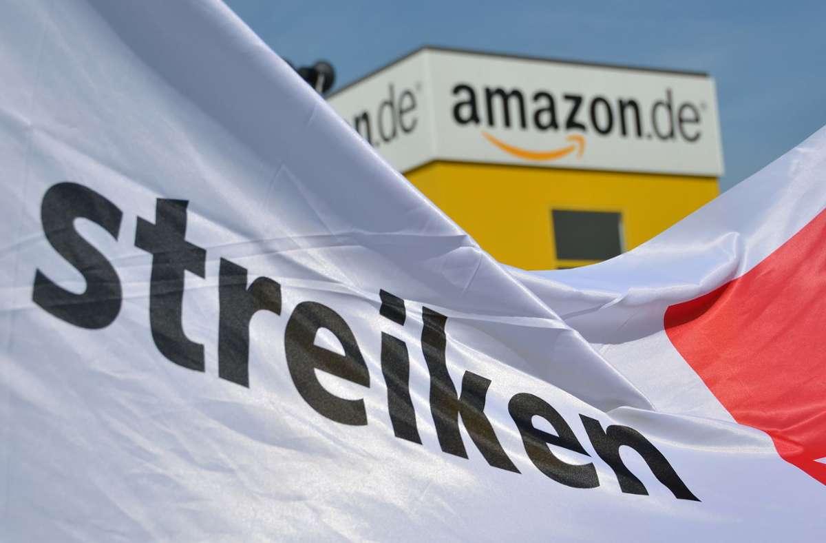 Die Gewerkschaft Verdi hatte zum Streik aufgerufen – laut Amazon hat dies keine Auswirkungen auf die Kundenbestellungen. Foto: dpa/Uwe Zucchi