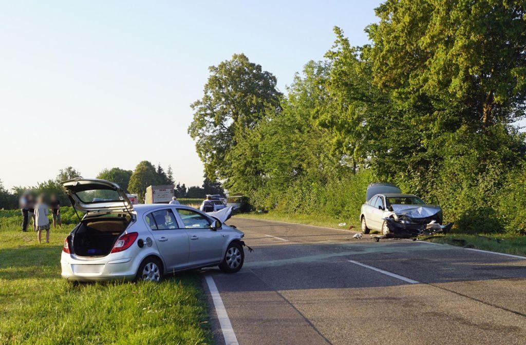 Insgesamt waren drei Fahrzeuge an dem Unfall beteiligt Foto: 7aktuell.de