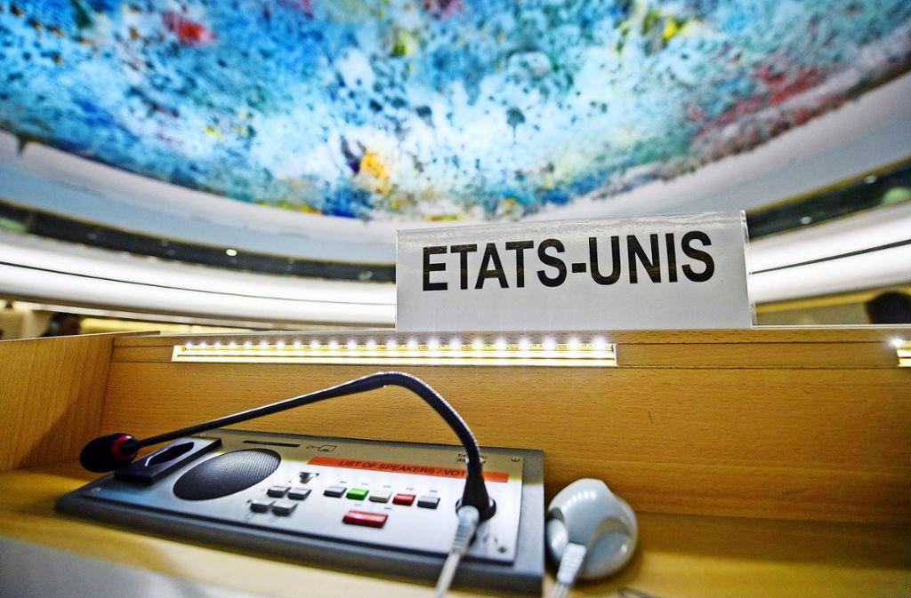 Der UN-Menschenrechtsrat in Genf Foto: KEYSTONE