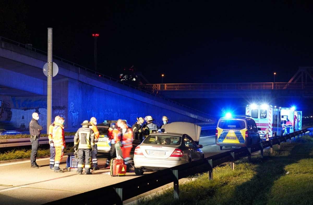 Der Unfall passierte am Sonntagabend gegen 19 Uhr. Foto: Andreas Rosar Fotoagentur-Stuttgart