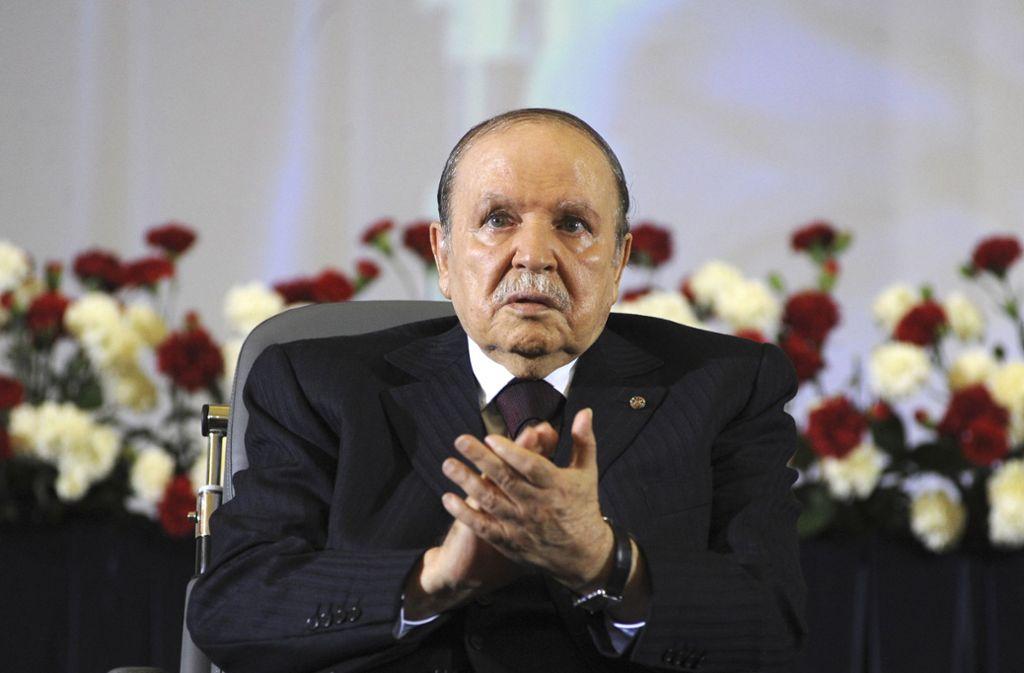 Merkels Verhandlungspartner: Der algerische Präsident  Abdelaziz Bouteflika Foto: AP