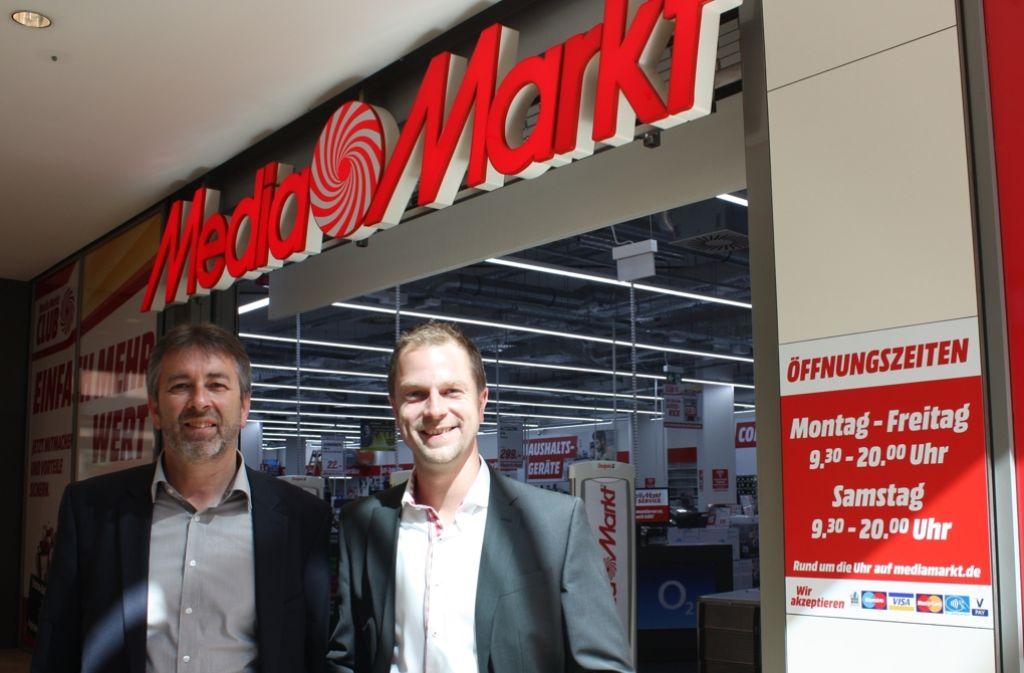 Helmut Hartl (links) und Michael Grillenberger freuen sich auf die Eröffnung am 25. August. Foto: Rebecca Stahlberg