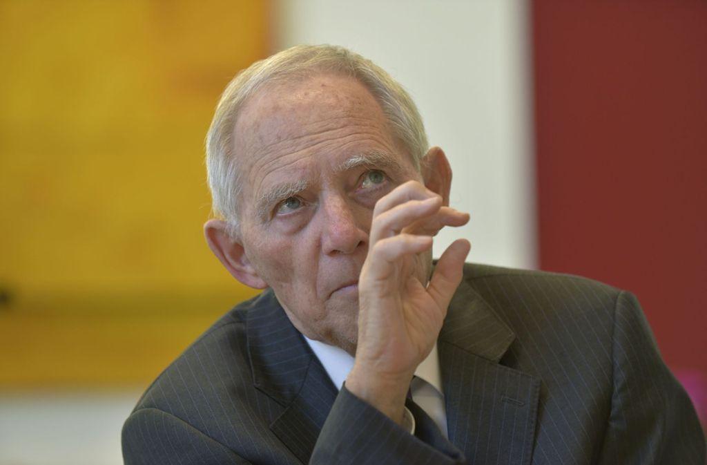 Zur verteidigungspolitischen Integration Europas fordert Bundestagspräsident Wolfgang Schäuble Änderung am Parlamentsvorbehalt bei Einsätzen der Bundeswehr. Foto: Michael Ebner