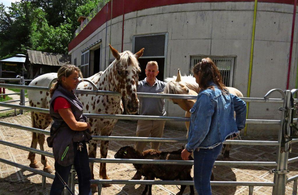 Andreas Pohl und seine Mitarbeiterinnen kümmern sich um die Tiere. Foto: Caroline Friedmann