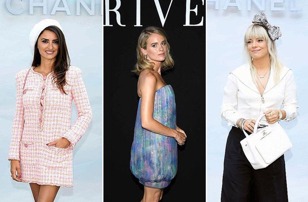 Promiauflauf bei den Haute-Couture-Schauen in Paris: Penelope Cruz (links) und Lilly Allen beehrten Chanel, Cressida Bonas (Mitte) Armani. Foto: Getty Images