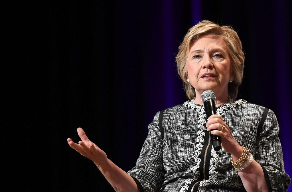 Clinton kündigte in dem Interview an, weiter ihre politische Meinung zu sagen. Foto: AFP