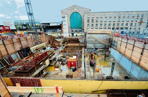 Der Rohbau des unterirdischen Technikgebäudes wird Ende des Jahres fertig – und damit später als ursprünglich geplant. Foto: dpa