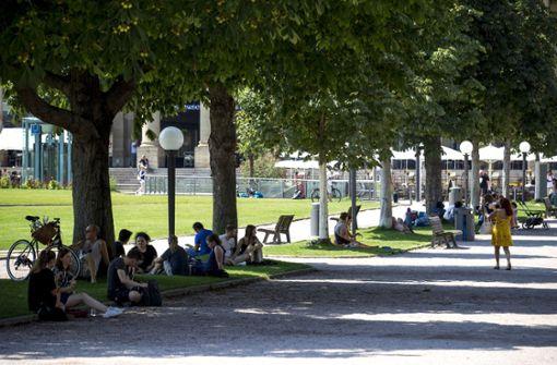 Stuttgarter kommen mit extremer Hitze klar