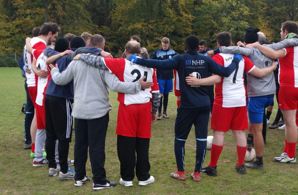 Die Ramtelkicker und die  Stuttgarter Kickers trainieren gemeinsam. Foto: privat