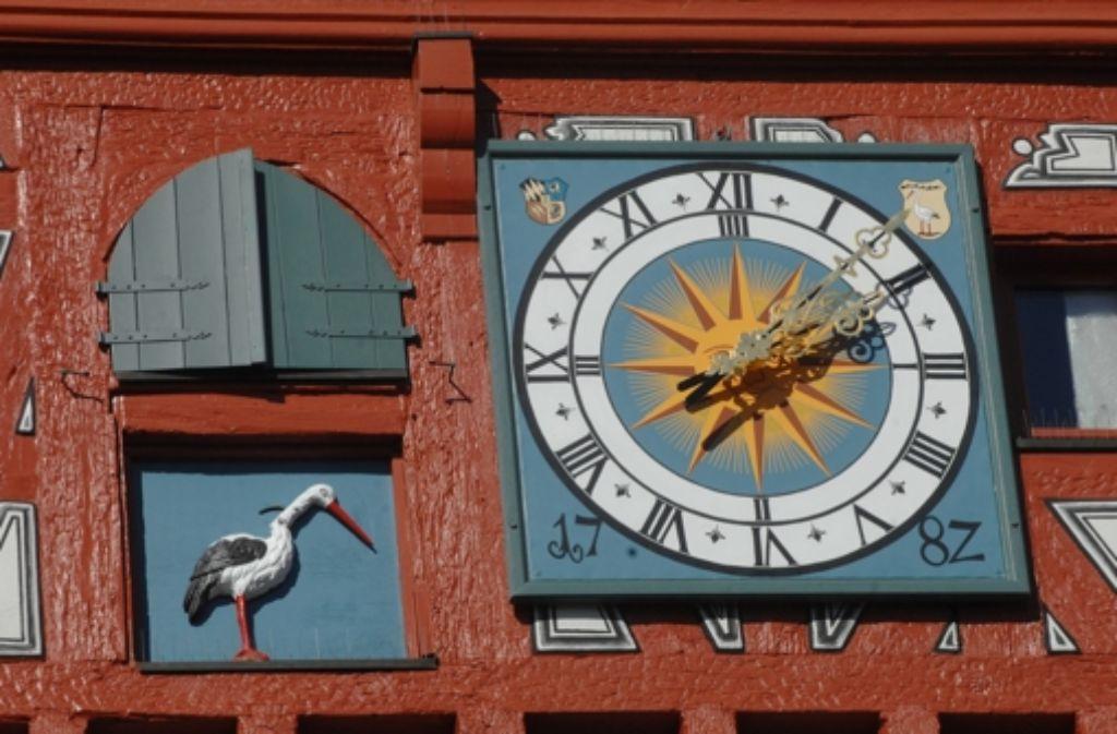Großbottwar wird von der einheimischen Bevölkerung auch Storchenstadt genannt. Foto: