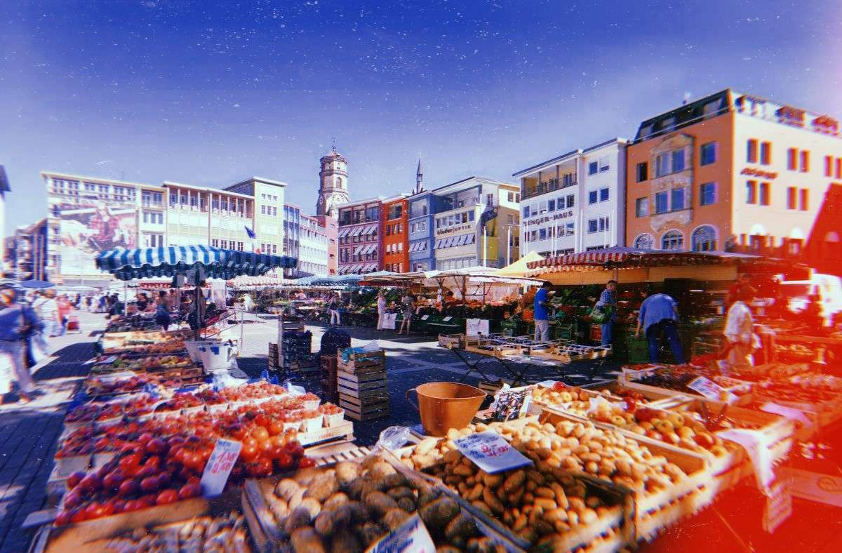 Auf einmal sehr ansehnlich, der Stuttgarter Marktplatz.  Foto: Märkte Stuttgart