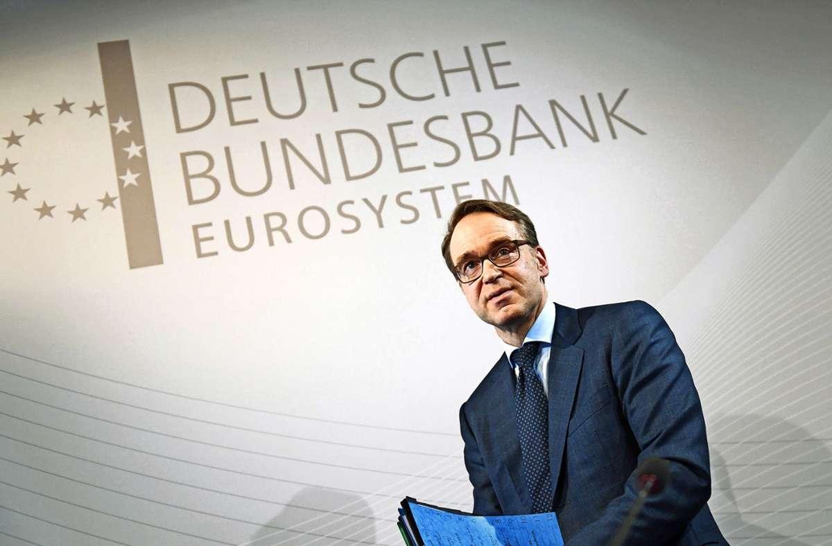 Bundesbankchef Jens Weidmann sieht in der lockeren Geldpolitik Risiken. Foto: dpa/Arne Dedert