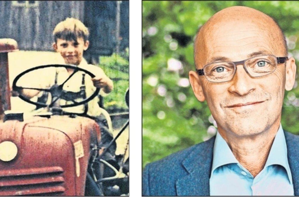 Traktor fahren  auf dem Bauernhof während des   Urlaubs mit den Eltern in Österreich, war für den  heutigen Agrar-Ingenieur Foto: privat