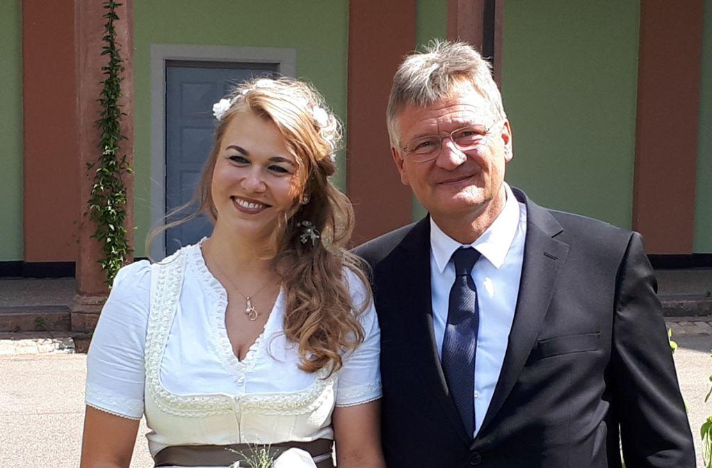 Jörg Meuthen (AfD) hat seine Lebensgefährtin Natalia Zvekic geheiratet Foto: Jörg Meuthen