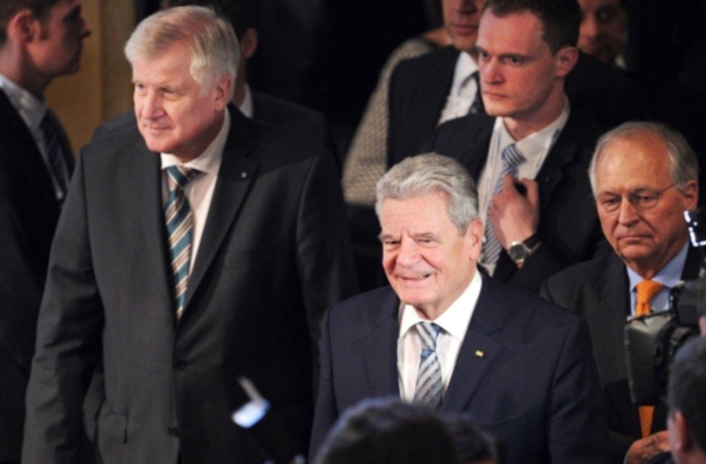 Bundespräsident Joachim Gauck hat ein Ende der Zurückhaltung in der deutschen Außen- und Sicherheitspolitik gefordert. Foto: dpa