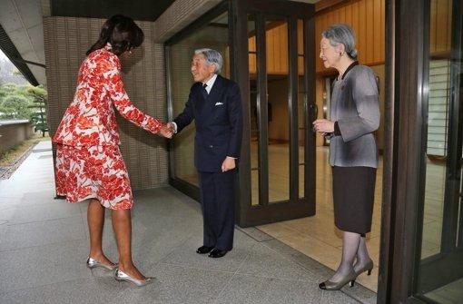 First Lady trifft das japanisches Kaiserpaar