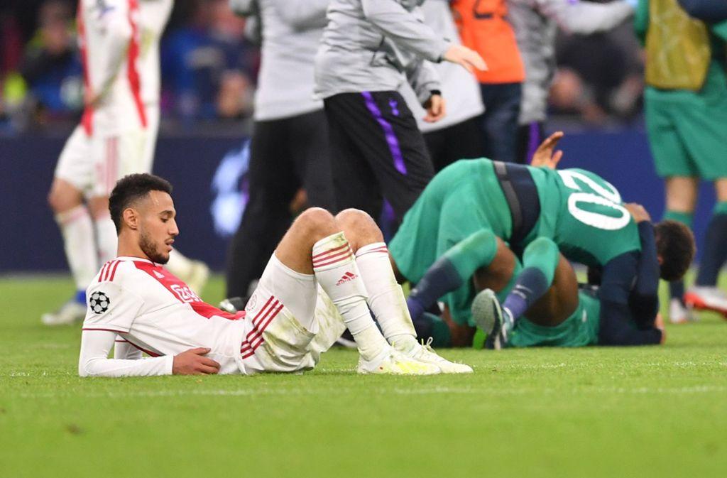 Ajax und Tottenham: zwischen tiefer Trauer und grenzenlosem Jubel Foto: dpa