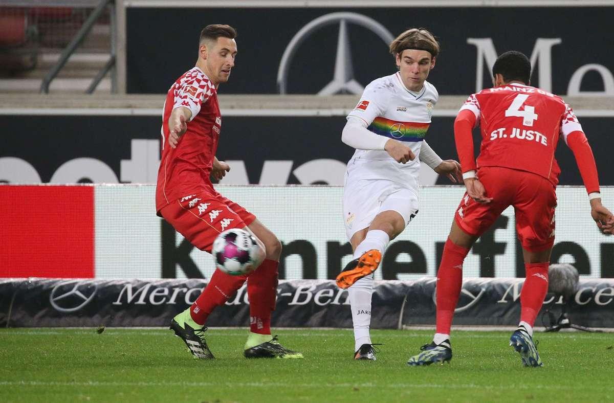 Der VfB Stuttgart hat gegen den 1. FSV Mainz 05 2:0 gewonnen. Unsere Redaktion bewertet die Leistungen der VfB-Akteure wie folgt. Foto: Pressefoto Baumann/Alexander Keppler