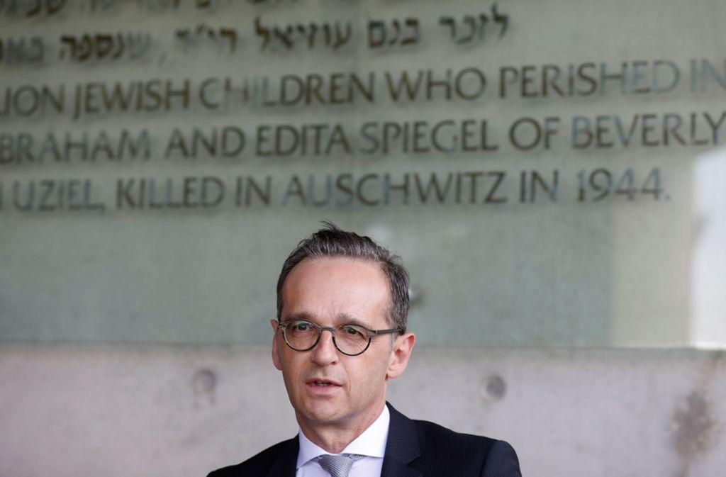 Steht zur deutschen Verantwortung für den Holocaust: Heiko Maas in Jad Vaschem. Foto: AFP