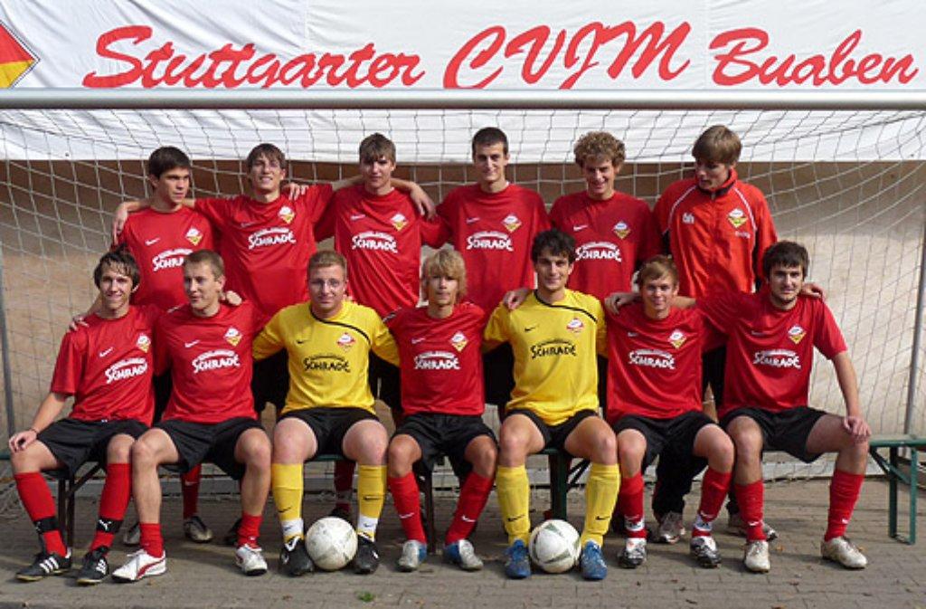 Ein Mannschaftsfoto der Stuttgarter CVJM Buaben. Der offizielle Fanclub des VfB hat es ... Foto: Stuttgarter CVJM Buaben