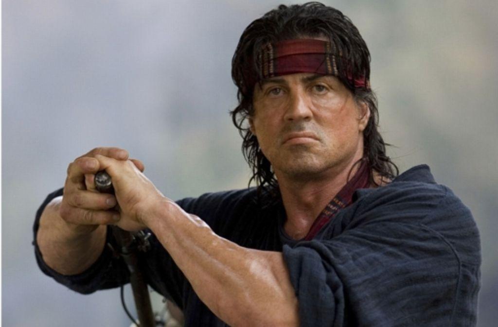 """Silvester Stallone als """"Rambo"""" - eine seiner Paraderollen. Foto: AP"""