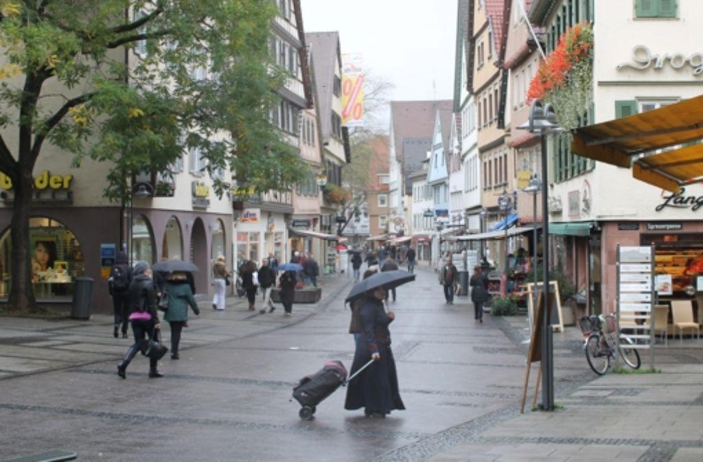 In der Marktstraße soll es in der Adventszeit 2014 schwäbisch zugehen. Foto: Maira Schmidt