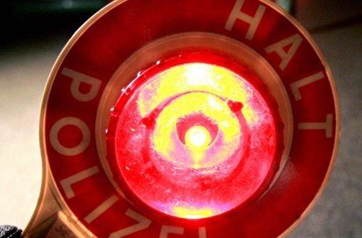 Bei Rot über die Ampel gebraust