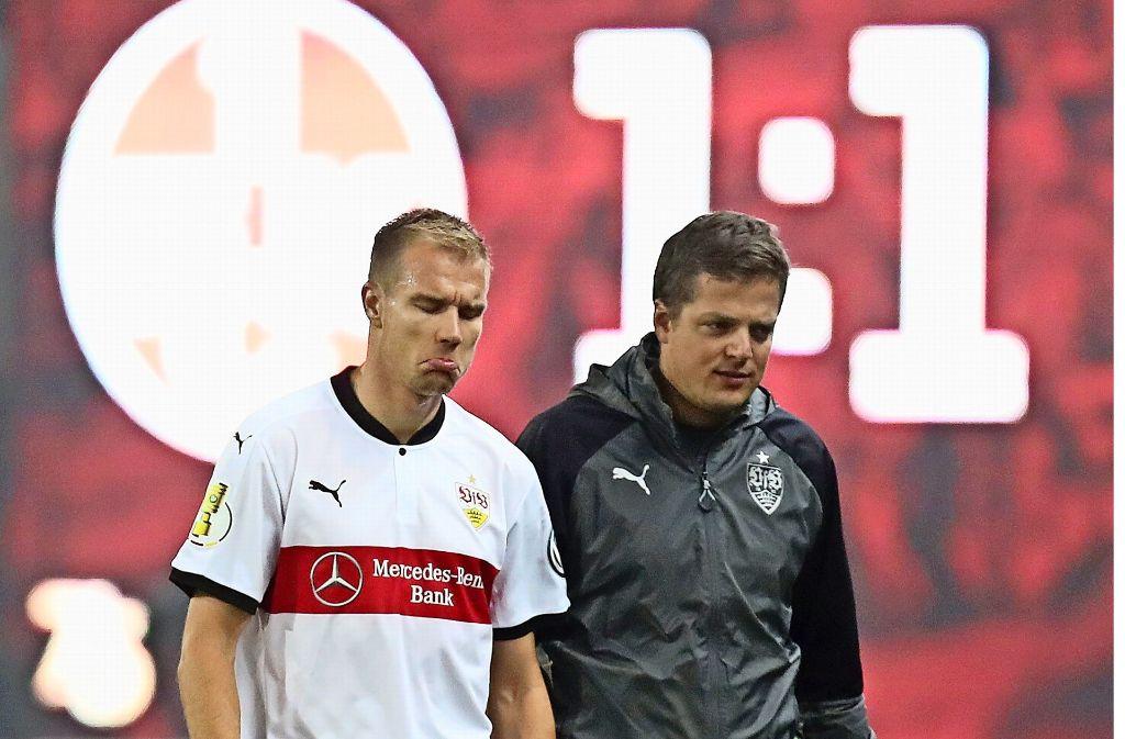 Holger Badstuber (links) musste vorzeitig ausgewechselt werden. Foto: Pressefoto Rudel