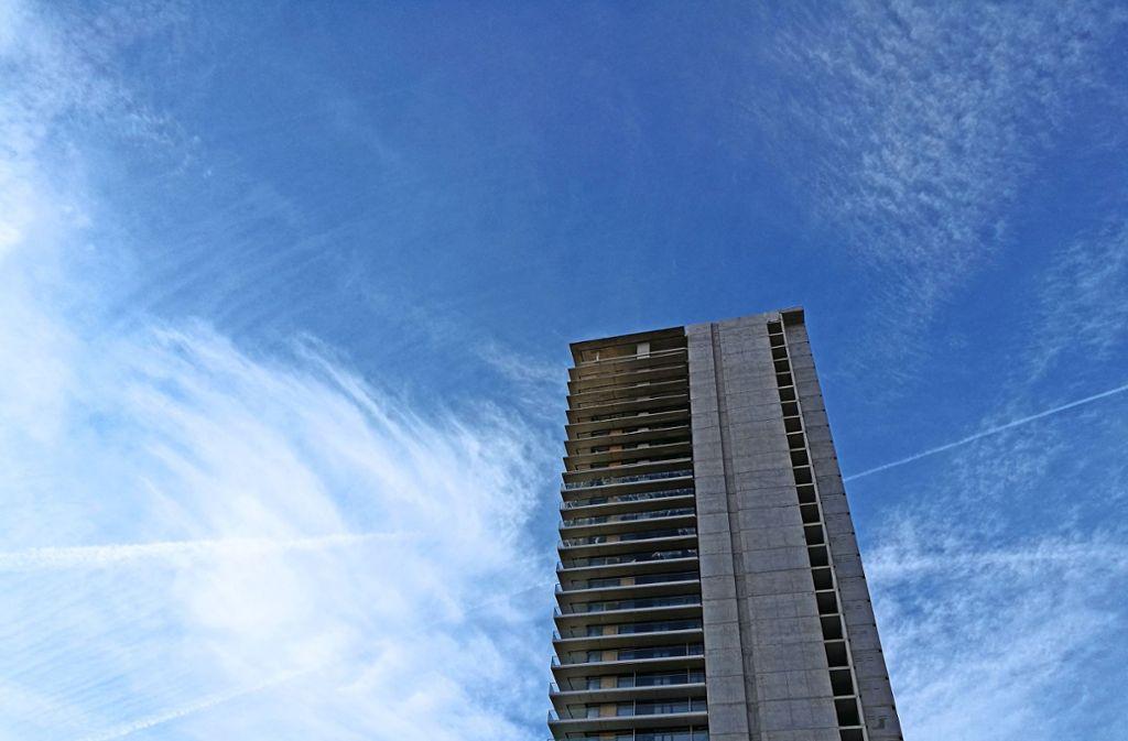 Die Zukunft des Gewa-Towers in Fellbach ist weiter ungewiss. Foto: Patricia Sigerist