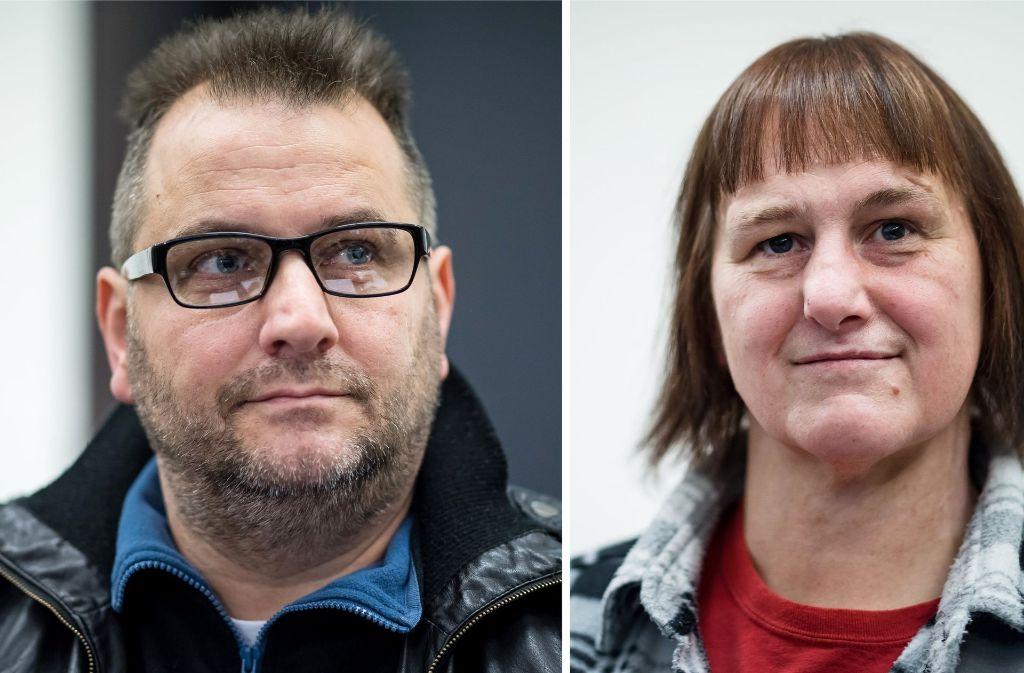 Die beiden Angeklagten, Wilfried W. (rechts) und  Angelika W. (links) sollen über Jahre hinweg mehrere Frauen in ein Haus im ostwestfälischen Höxter gelockt und schwer misshandelt haben Foto: dpa