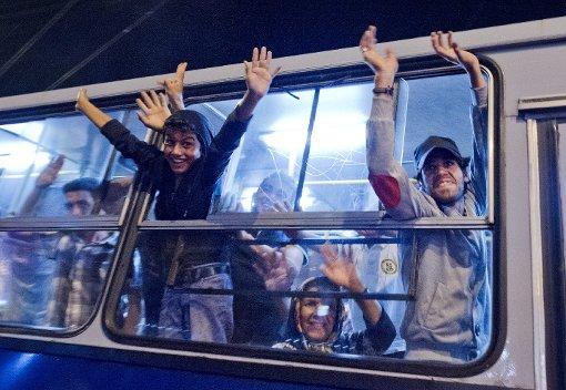 Flüchtlinge auf dem Weg gen Westen