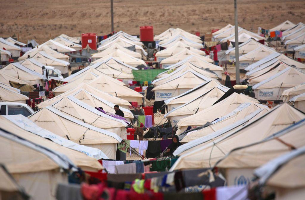 Das syrische Flüchtlingslager Al-Hol. Foto: AFP