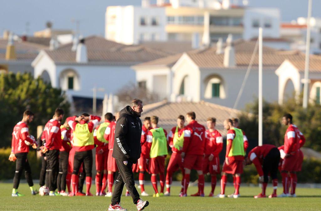 Im Winter vor zwei Jahren bereitete sich der VfB Stuttgart schon einmal in der Sonne Portugals auf die Rückrunde vor. Foto: Baumann