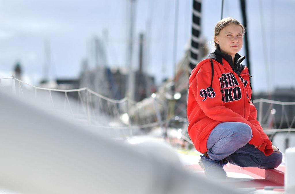 Greta Thunberg wird an der UN-Klimakonferenz in New York im September teilnehmen. Die Yacht, mit der Thunberg segelt, gehört dem Stuttgarter Unternehmer Gerhard Senft. Foto: AFP