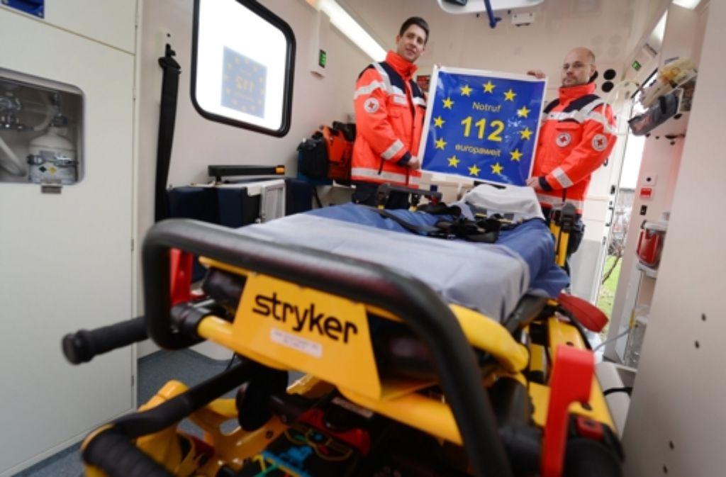 Europaweit eine Nummer: im Notfall gilt die 112 Foto: dpa