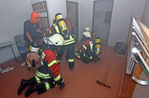 Zur großen Schau wird  die Halle geduscht