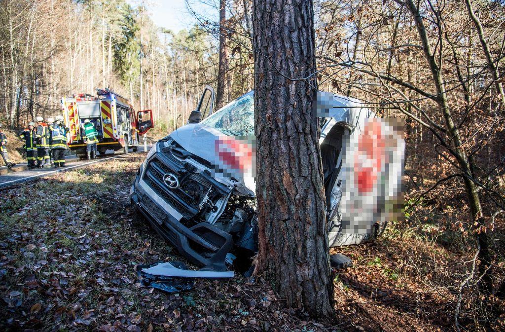 Der Fahrer wurde durch den Unfall eingeklemmt und musste von der Feuerwehr gerettet werden. Foto: SDMG
