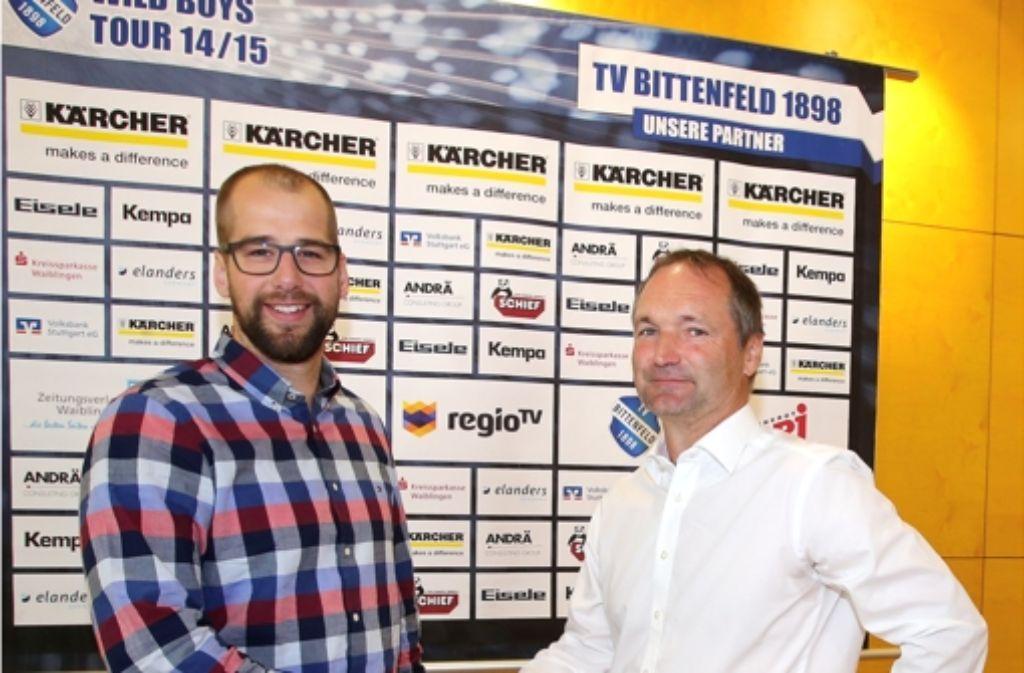 Bittenfelds Macher: Geschäftsführer Jürgen Schweikardt (links) und Trainer Thomas König Foto: Baumann