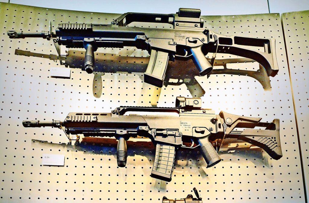 Sturmgewehre  der Firma Heckler und Koch in Oberndorf Foto: dpa