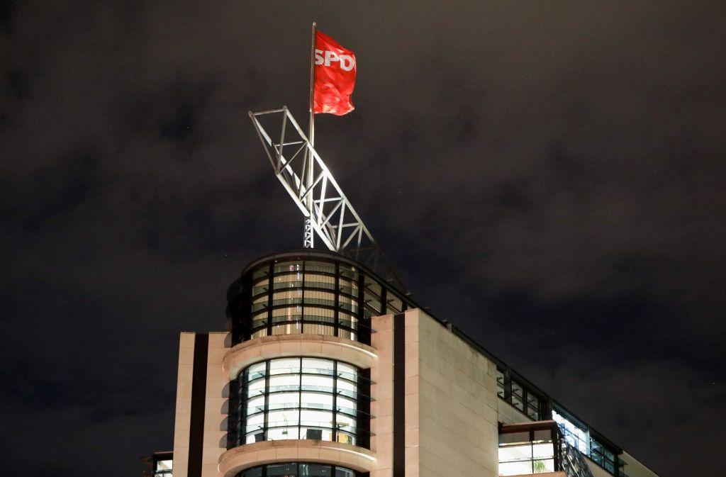 Die SPD-Parteizentrale in Berlin: Hier hat sich die SPD-Spitze nach dem Gespräch von SPD-Chef Schulz und Bundespräsident Steinmeier beraten. (Archivfoto) Foto: dpa