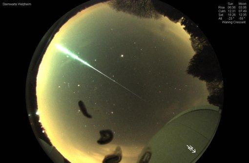 Sternwarte fotografiert Meteoriten