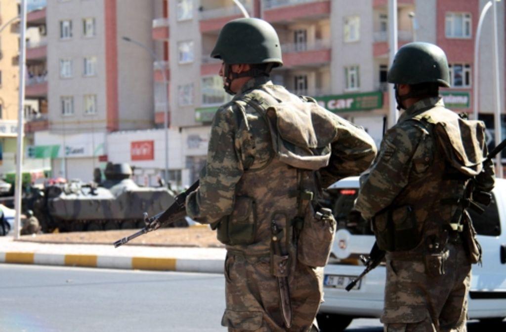 Türkische Soldaten an der Grenze zu Syrien Foto: dpa