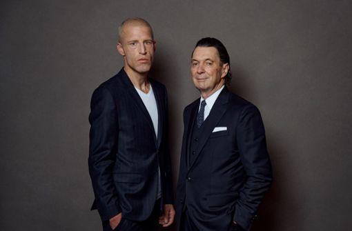 Martin Suter und Benjamin von Stuckrad-Barre haben Spaß miteinander
