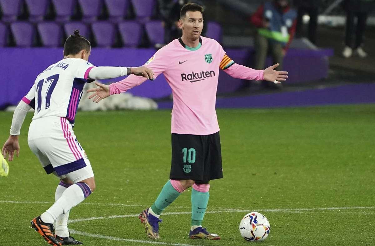 Lionel Messi soll weiter für den FC Barcelona am Ball sein. Der neue Vertrag ist aber noch nicht unterschrieben. Foto: AP/Cesar Manso