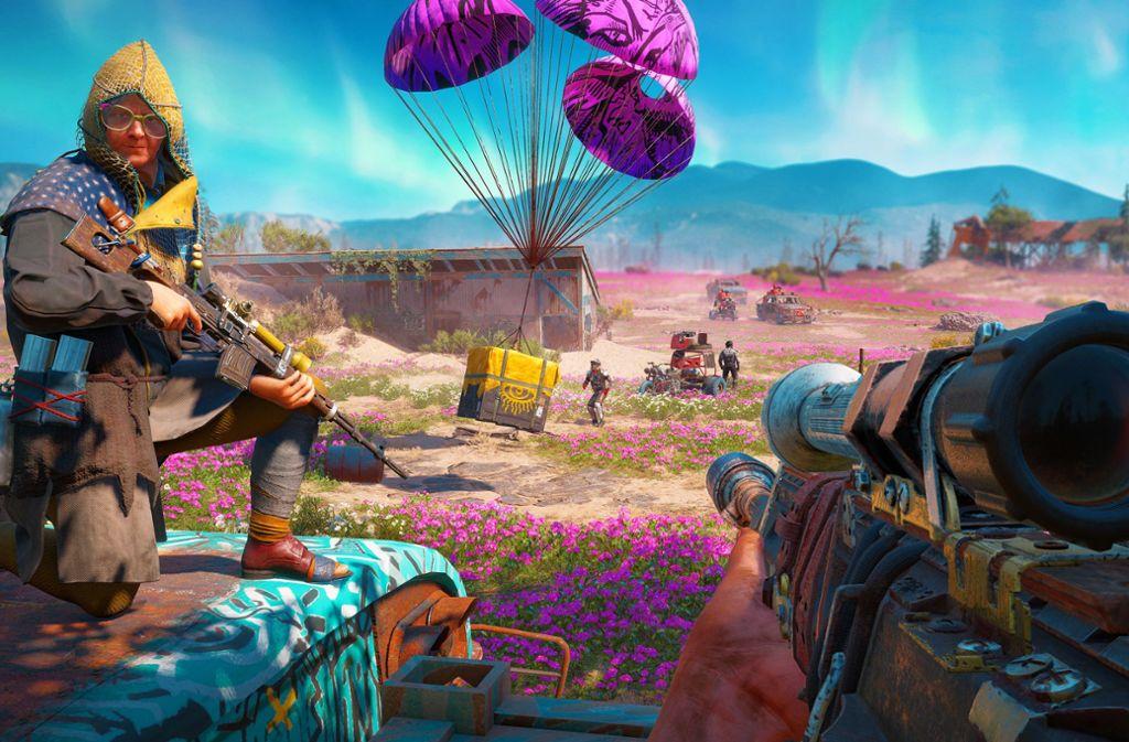 """Das neue """"Far Cry: New Dawn"""" fällt mit einem deutlich bunteren Look auf. Foto: Ubisoft"""
